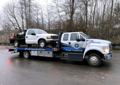 We safely delivered this service vehicle to the repair shop so it can get back on the road.