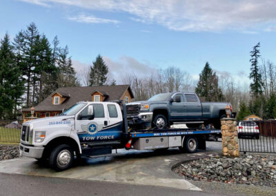Tow - Grey pickup truck