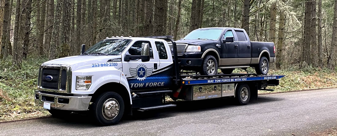 Tow - Blue Chevy Truck - Roy, WA